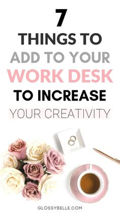 7 Work Office Decorating Ideas To Inspire Creativity & Productivity – Glossy B. - 7 Work Office Decorating Ideas To Inspire Creativity & Productivity – Glossy Belle decor c - # Diy Organisation, Office Organization At Work, Organizing, Work Desk Decor, Decorating Office At Work, Small Office Decor, Home Office Colors, Office Cubicle, Chic Cubicle Decor