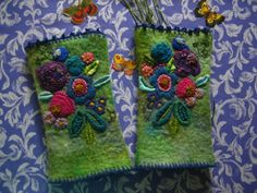 embroidered cuffs @ Baba Yaga