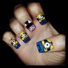 MINIONS nail design designs Minion Despicable Me