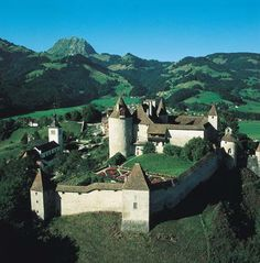 Chateau Gruyere castle.  Had the MOST amazing gruyere cheese raclette in this town and raspberries with cream!!
