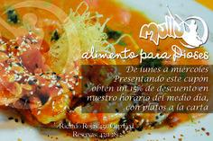 Flyer Promocional, fotografía, redacción Cliente MULLU restaurant