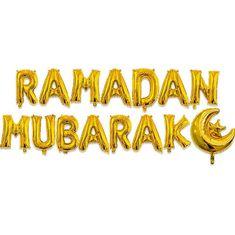 Ramadan Mubarak Gold Foil Balloons 15pcs   Etsy Birthday Straws, Happy Birthday Balloons, Happy Birthday Banners, Eid Al Fitr, Eid Mubarak, Gold Balloons, Wedding Balloons, Ramadan Decorations, Festival Decorations