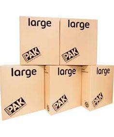 Ecohome Large Cardboard Storage Boxes - Set of 5.