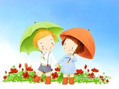 esernyős Többi kép: http://pixgood.com/children-illustration.html