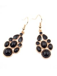 Black Diva Dangler Earrings