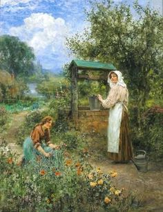 The Days at the Well ~ Henry John Yeend King ~ (English: 1855-1924)