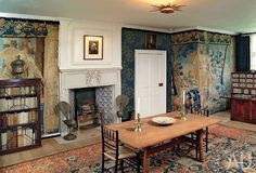 Decor Design Review - Kelmscott Manor, nr Lechlade, Gloucestershire ~ Tapestry Room. Tapestries were...