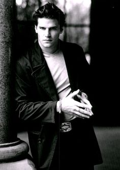 Angel. David Boreanaz <3. Anyone notice he does that hand thing whenever he's trying to be serious
