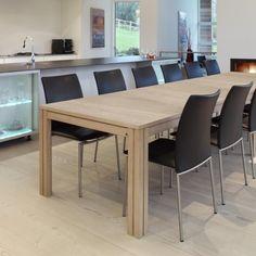 Table en bois design avec allonges 200 cm x 100 cm