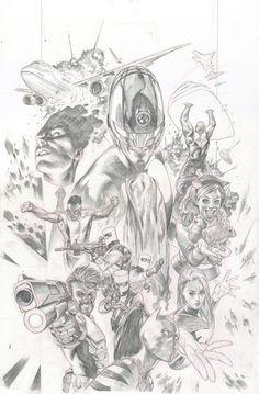New Avengers #17 Cover Comic Art