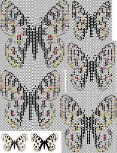 Продолжение. Бабочка аполлон. Кирпичное плетение. | biser.info - всё о бисере и бисерном творчестве