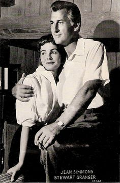 Old Hollywood Movie Couples | Jean Simmons (1929-2010), Stewart Granger