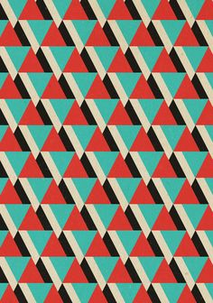 Retrospect, Triangle Duo, No. 04 Art Print