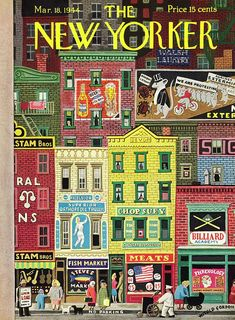 New Yorker March 18 1944 Painting by Witold Gordon Vintage Magazines, Vintage Ads, Vintage Posters, New Yorker Covers, The New Yorker, House Drawing, Ad Art, Thing 1, Cartoon Art