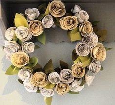 Papírové květiny-věnec