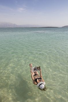 Floating on the Dead Sea!!! We love to Float in the Dead Sea #WelovetheDeadSea #DeadSea