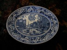 SOLD THANK YOU! JOHNSON BROS. HISTORIC AMERICA BROADWAY NY BARNUM'S MUSEUM PLATE EXCELLENT COND. $15 or best offer  http://r.ebay.com/4eHT8Z
