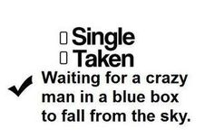 Waiting for a crazy man in a blue box. <3