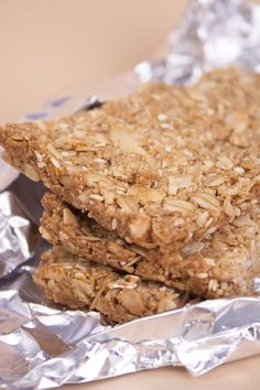 A crunchy granola bar with a peanut butter flavor and a hint of sesame. The perfect snack after a hard workout.