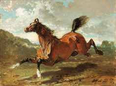 Galloping Horse by Alfred de Dreux | Art Posters