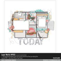 Layer Works No. 933- Studio Double-D Templates- LT549239- DesignerDigitals