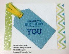 """Birthday to You-using extra card bases that I cut 1"""" shorter on the front for an interesting detail.  - #JBStampers"""