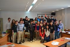 The LCDS and SMIC students pose for a photo after meeting, getting to know each other, and playing games together.