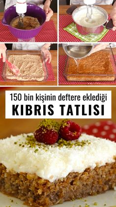 Kıbrıs Tatlısı Tarifi Videosu – Nefis Yemek Tarifleri – Tatlı tarifleri – Las recetas más prácticas y fáciles Easy Cake Recipes, Easy Desserts, Dessert Recipes, Yummy Recipes, Comfort Food, Turkish Recipes, Meals For Two, Food Cakes, Yummy Cakes