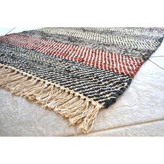 Hand-woven Matador Leather Stripe Runner Rug (2'6 x 12') | Overstock.com Shopping - The Best Deals on Runner Rugs
