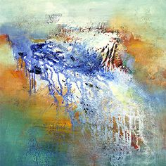 """Jan Neil - """"Coastal Swirl"""" Australian artist, I was lucky enough to buy one of her paintings years ago and I love the colours and textures."""