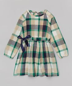 This Green & Black Plaid Tunic - Toddler & Girls by Funkyberry is perfect! #zulilyfinds