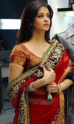 Bridal Saree - more inspiration at http://www.ModernRani.com