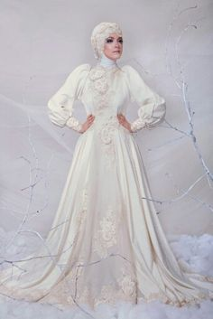"""""""THE UNTOUCHABLE ROSE"""" & """"EGYPTIAN WINTER"""" by Ayu Dyah Andari #modestbrides…"""