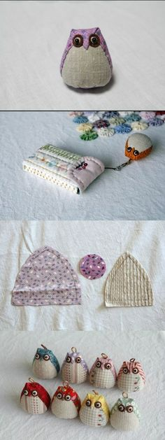 How to sew a pretty owl. Very simple step to step tutorial at my web-site http://fastmade.blogspot.com