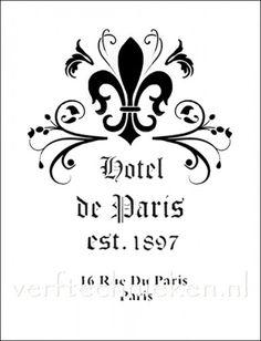 Sjabloon Hotel de Paris Fleur de Lis (verftechnieken.nl) Helaas te groot voor mijn doel.