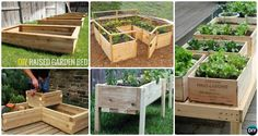 More than 20 DIY Raised Garden Bed Ideas Instructions [Free Plans] from Cinder block garden bed to wood garden bed and garden tower!