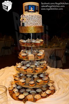Filipiniana Wedding Cake with harana (serenade) design, and Filipiniana Cupcakes to celebrate the union of 2 amazing people. Filipiniana Wedding, Cupcake Cakes, Cupcakes, Caramel Frosting, Dark Chocolate Cakes, Wedding Designs, Barong Tagalog, Wedding Cakes, Brown Beige