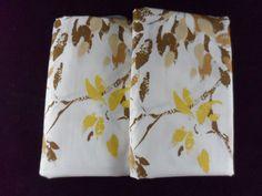 2 Vintage Burlington House Never Iron Percale Pillowcases Leaves 42 x 36  #BurlingtonHouse