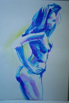 www.academiataure.com #painting #model #body #watercolors