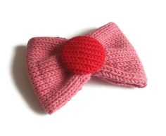 Bow Brooch  Pink and Red Free UK Shipping by rheaclements on Etsy, £6.00