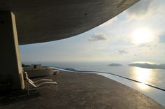 View looking out to Pacific - Marbrisa Residence, John Lautner, Acapulco, Mexico, 1973