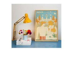 humanempireshop poster + yellow lamp