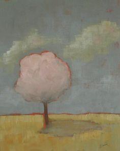 Original acrylic painting Tree painting Landscape by VESNAsART