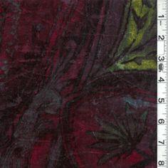 Burgundy Multi Panne Velvet - Discount Fabrics
