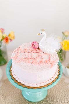 Spring swan party birthday