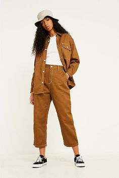 Shop Carhartt WIP Armanda Workwear Trousers at Urban Outfitters today. We carry all the latest styles, colours and brands for you to choose from right here. Carhartt Workwear, Workwear Trousers, Trousers Women, Pants For Women, Clothes For Women, Cool Outfits, Fashion Outfits, Fashion Forecasting, Work Wear