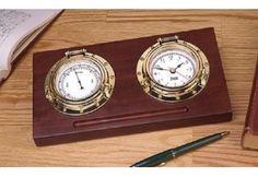 Perfect Gift for Nautical Enthusiast Porthole Desk Set Nautical Clocks, Nautical Gifts, Outdoor Wall Clocks, Weather Instruments, Weather Radio, Rain Gauge, Whitehall Products, Desk Set, Polished Brass