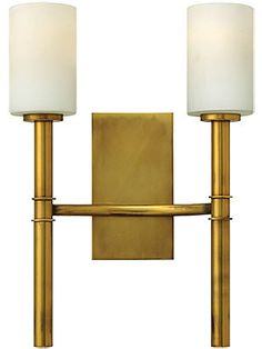 Margeaux Double Sconce With Etched Opal Glass Shades