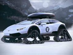 Con este @lamborghini  #Huracán podrías recorrer la nieve.