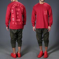 I feel Like Pablo Red long sleeve T-Shirt
